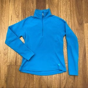 Mountain Hardwear blue fleece quarter zip pullover